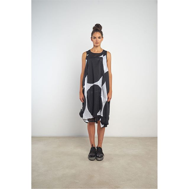 Summer Sleeveless Dress by #Rundholz . . . . . #antifashion #ss19 #houston #avantgardefashion #fashionkiller #conceptualfashion #houstonfashion #slowfashion #advancedfashion #toohotout #houstonweather #studiorundholz #whattowear #wearwhatyoulove #womensfashion #outfitinspo #houston #riveroakshouston #shoplocalhouston  #florescent #blackdress #polkadots #patterndress #styleatanyage