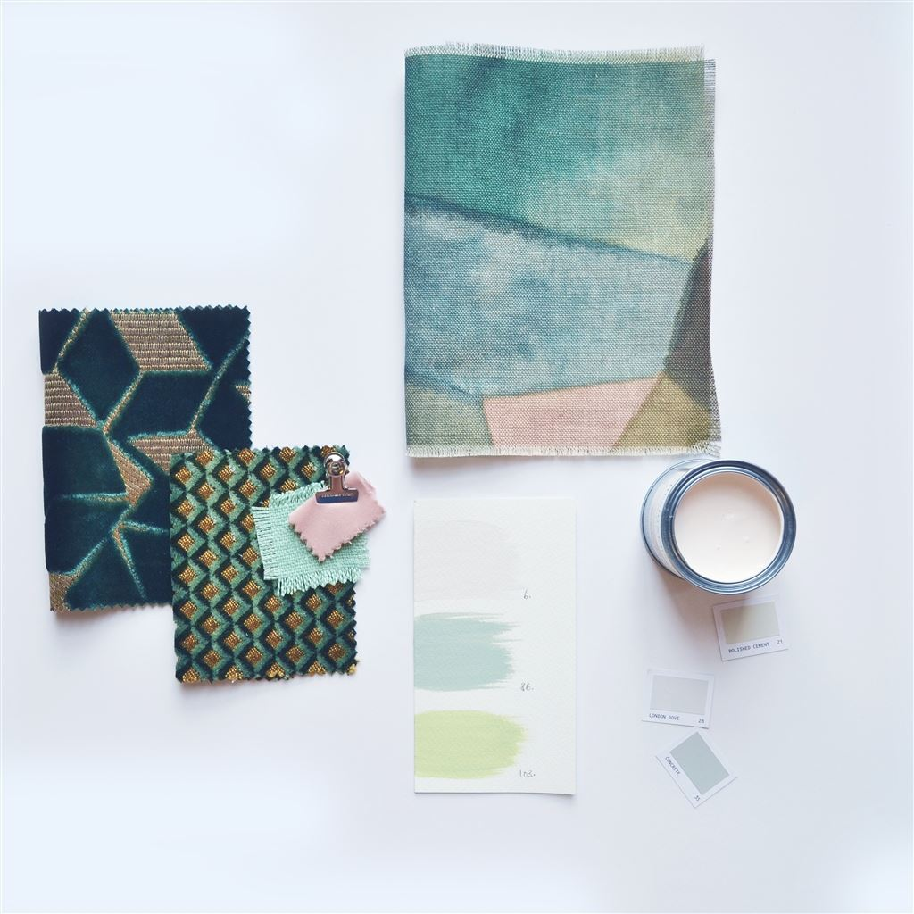 ART OF GEOMETRY - The Geo Moderne fabric print is a graphic design imagined in a modern, painterly style…