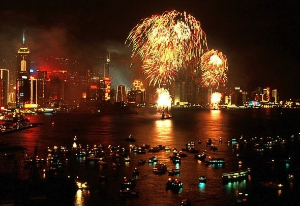 Watch with us the hong kong fireworks