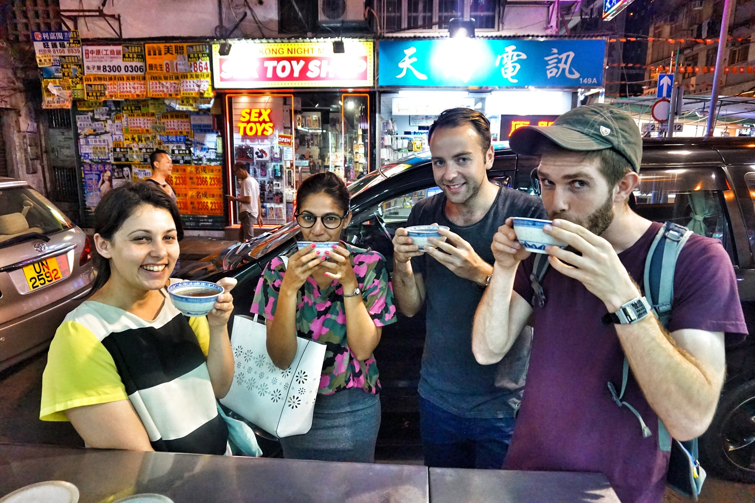 join your privater tour guide in Hong Kong for a health boosting cup of herbal tea at the end of your night tour.
