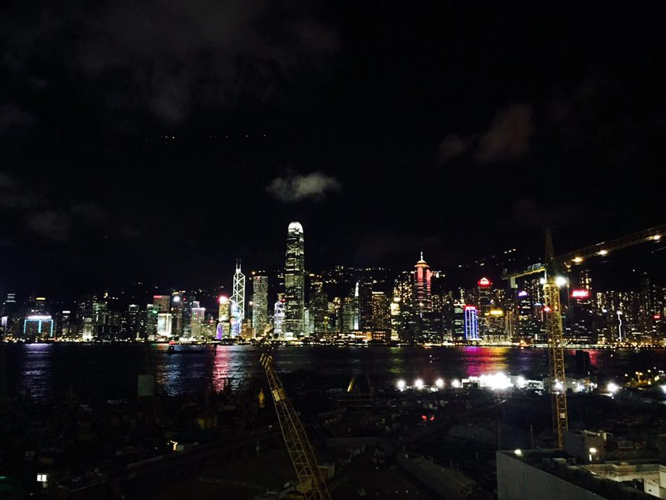 one of the hong kong things to do at night is to watch the super cool light show in the dark