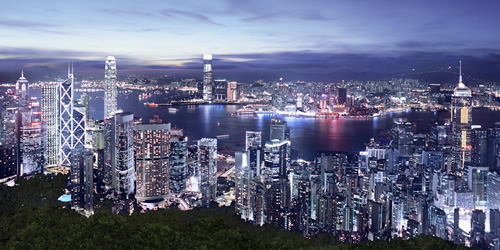 visit the peak on your hong kong private tours for this view