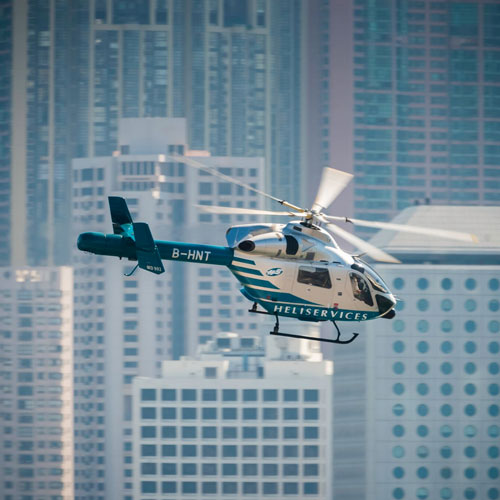 Helicopter Scenic Flight - Take in an ariel view of the world-famous Victoria Harbour, marvel at the rock formations of the Geopark, cruise over the beaches and bays of Hong Kong Island.Private and shared group flights available 7-days a week.Starting at HK$2800 →