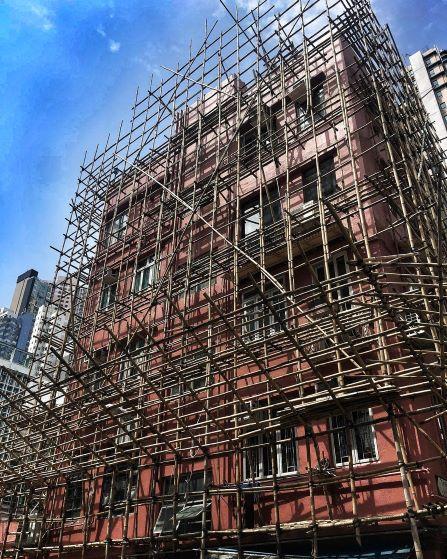 Hong Kong Tours, Bamboo Scaffolding