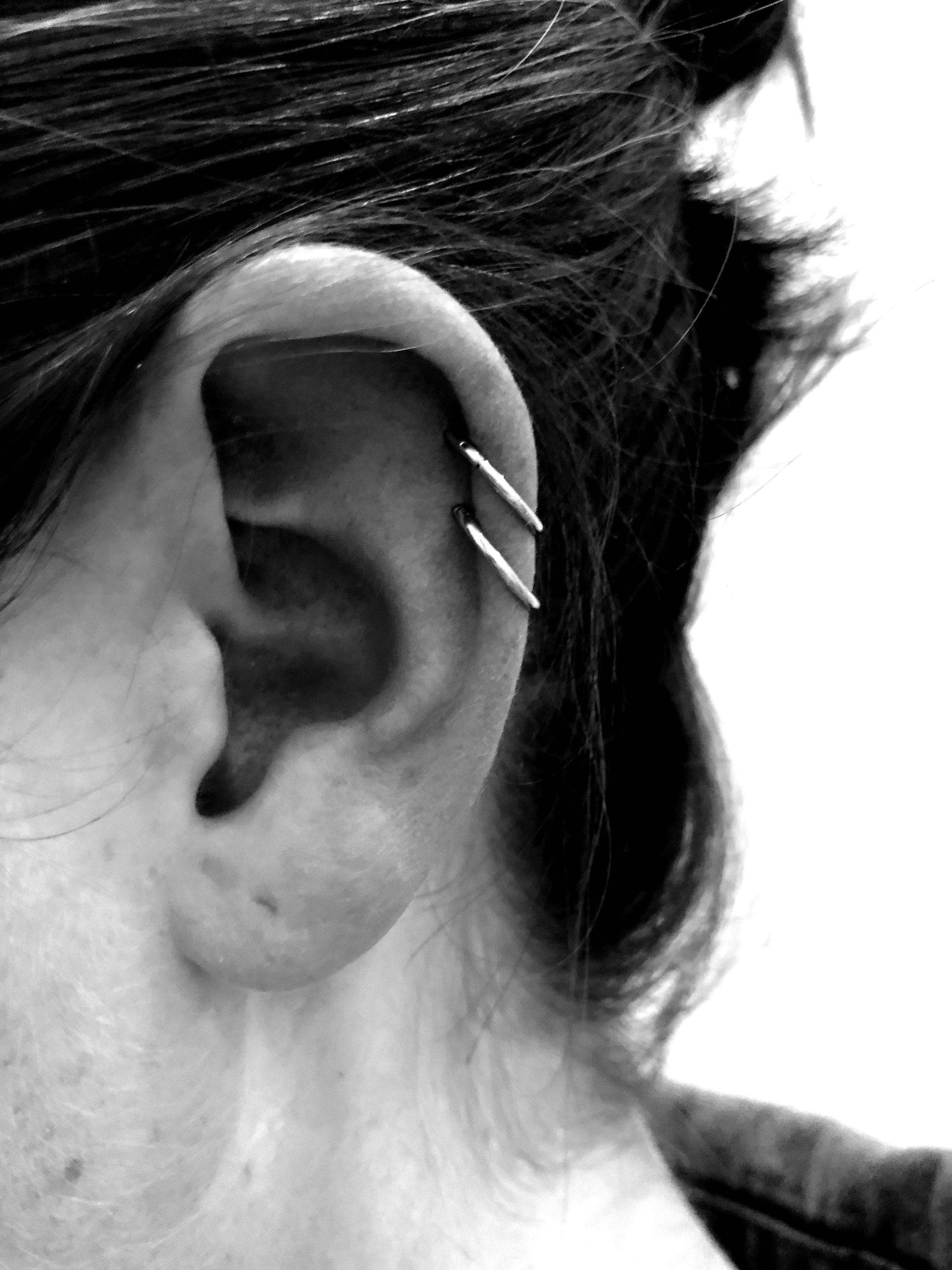 Beautiful Double Helix piercing
