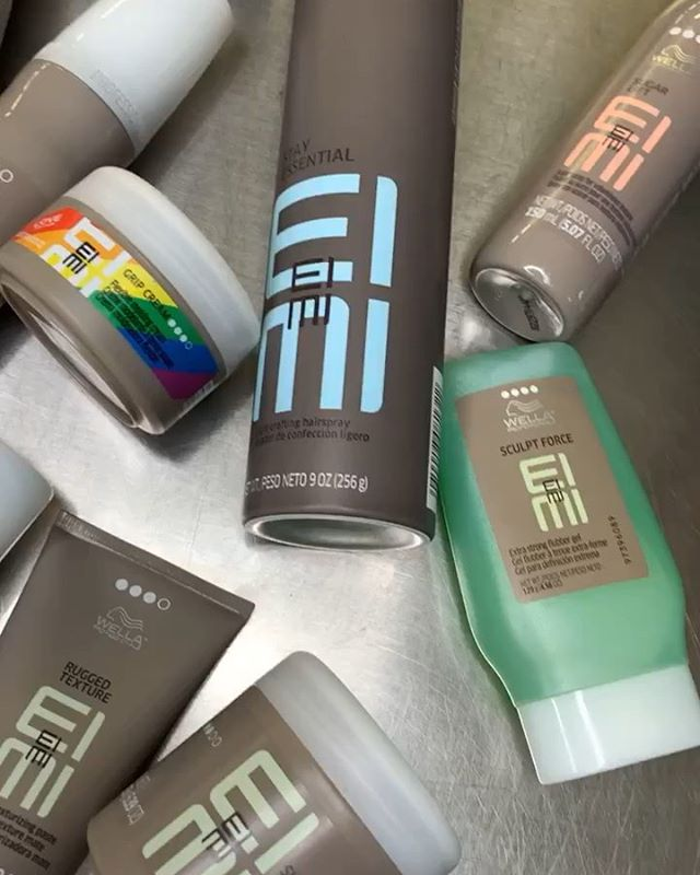 Wella EIMI Styling Line 💛💚💜 @wellahair @wellaeducation #wella #wellaprofessionals #styling #hair #cosmetologyschool #cosmetology #eimi #kcbeautyacademy