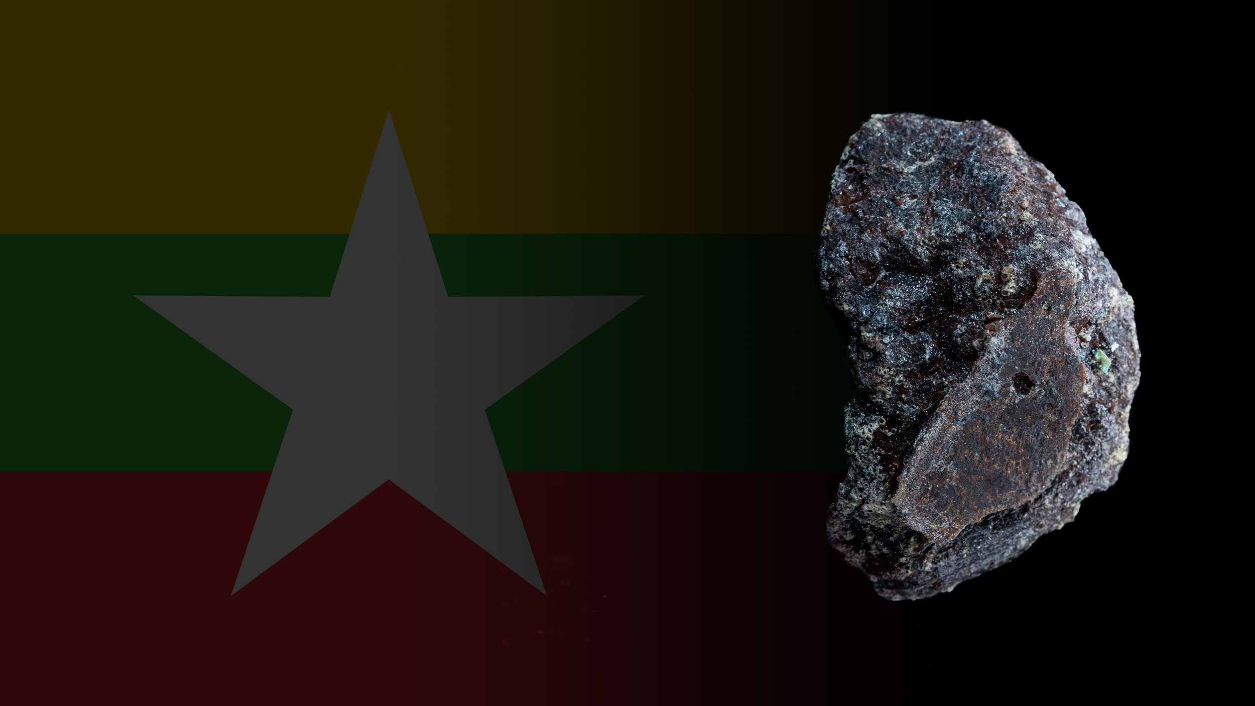 the Power stone - Painite stone - MyanmarThis stone was once considered one of the rarestminerals on Earth. It was found in Myanmar by British mineralogist Arthur Pain in the 1950s.The mineral was named after him.Painite has a brownish-red color due to iron traces.