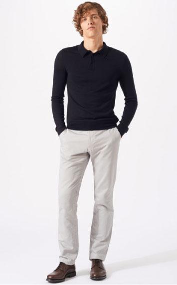 Jigsaw merino wool polo shirt
