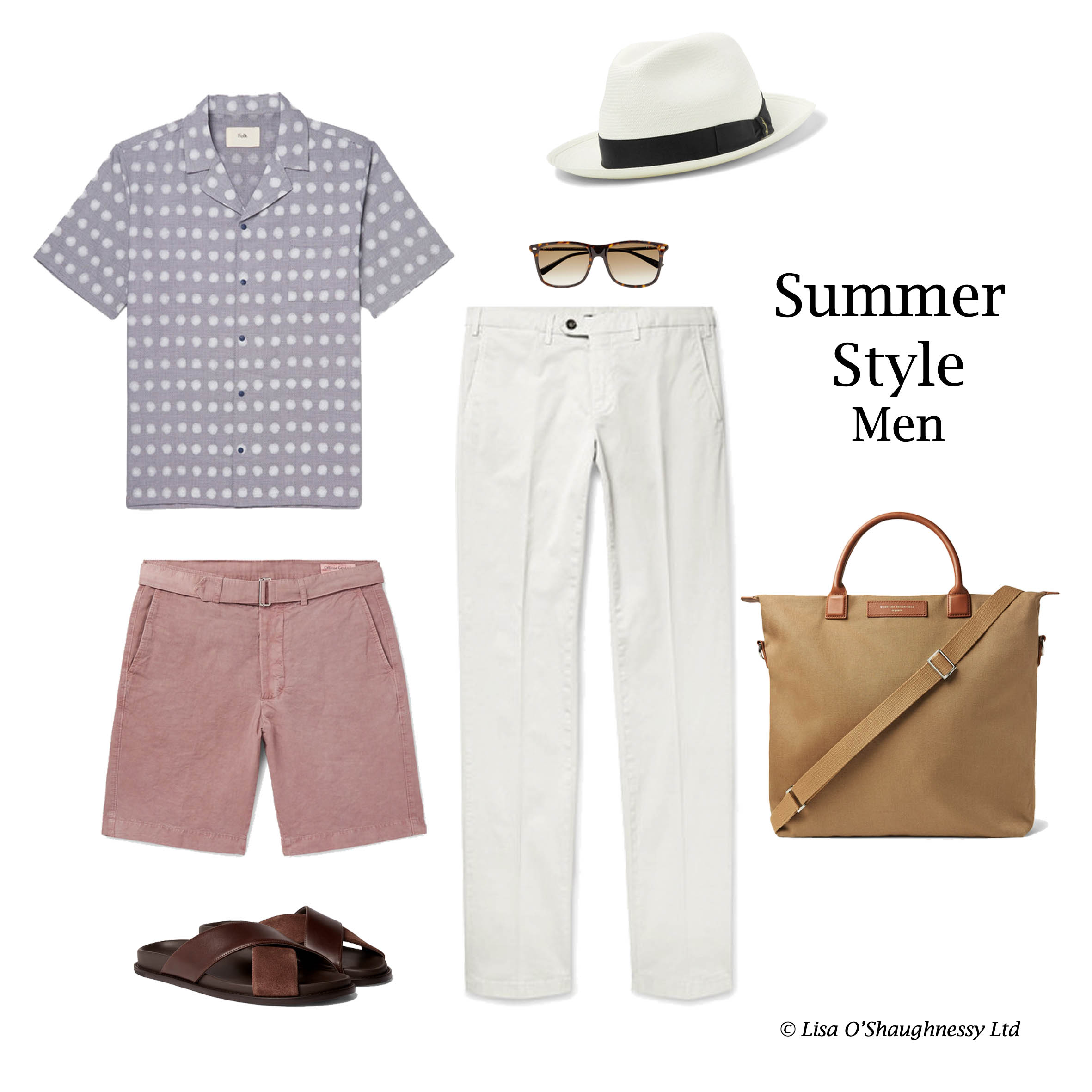 Personal Shopping vacation outfit for men.