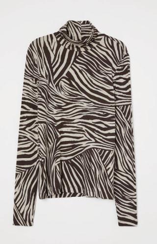 H&M zebra turtleneck
