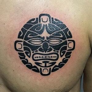 Voorbeeld van een Maori Tribal tattoo gezet door Wessel
