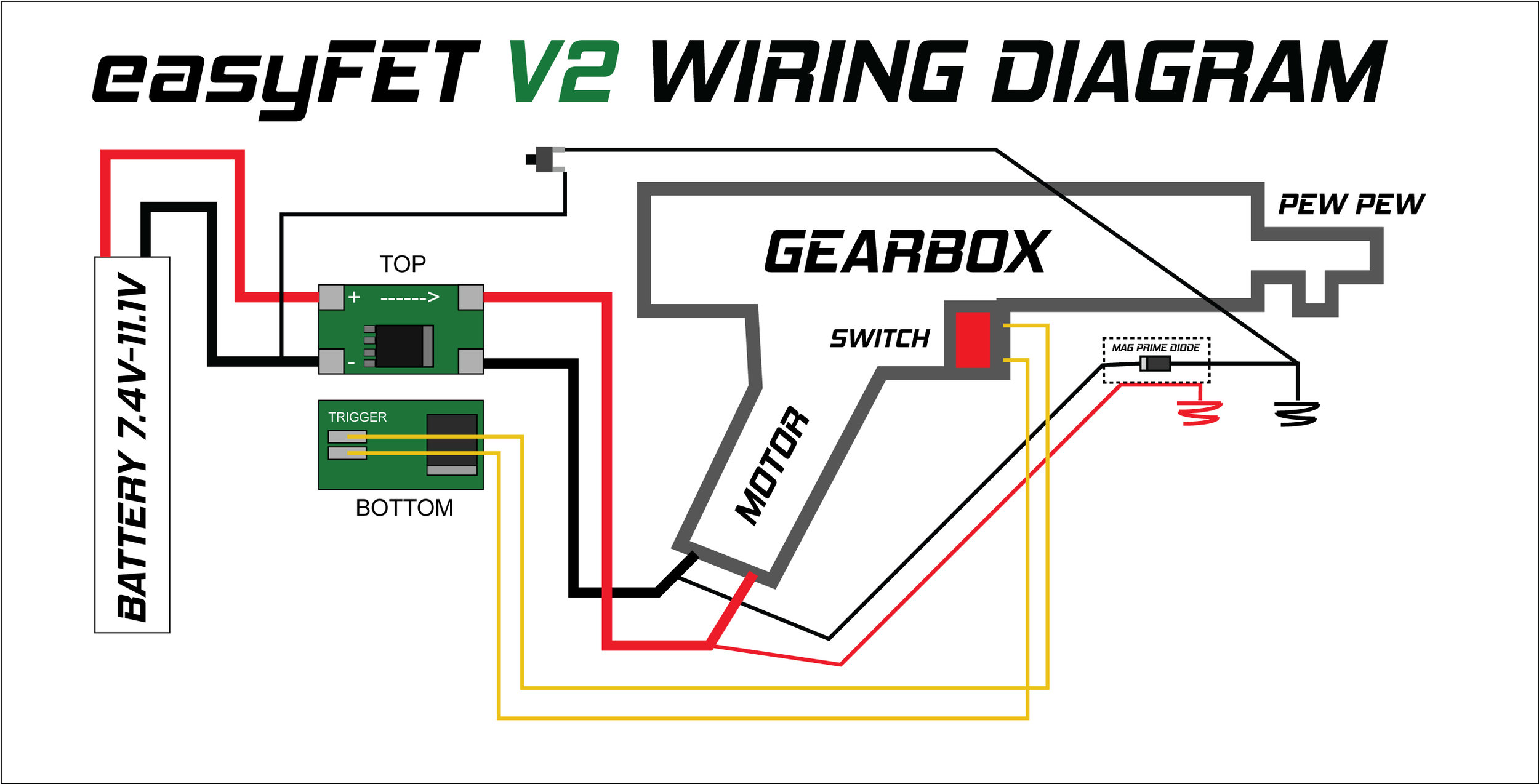 easyfet v2 1 gel ball aeg mosfet em tech  airsoft mos fet wiring diagram #8
