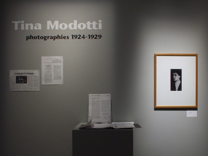Exposition  Tina Modotti – photographies 1924-1929 . Photo : Lucie Bureau