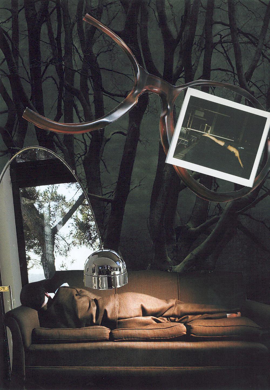 Temps d'arrêt   Collage de Louise Bédard