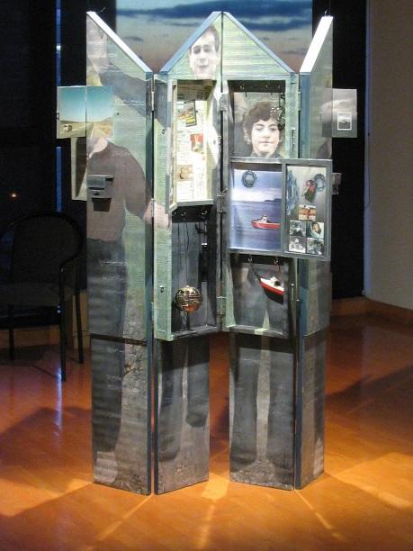 Sculpture-collage de Suzanne Blouin Exposition Hannah Höch