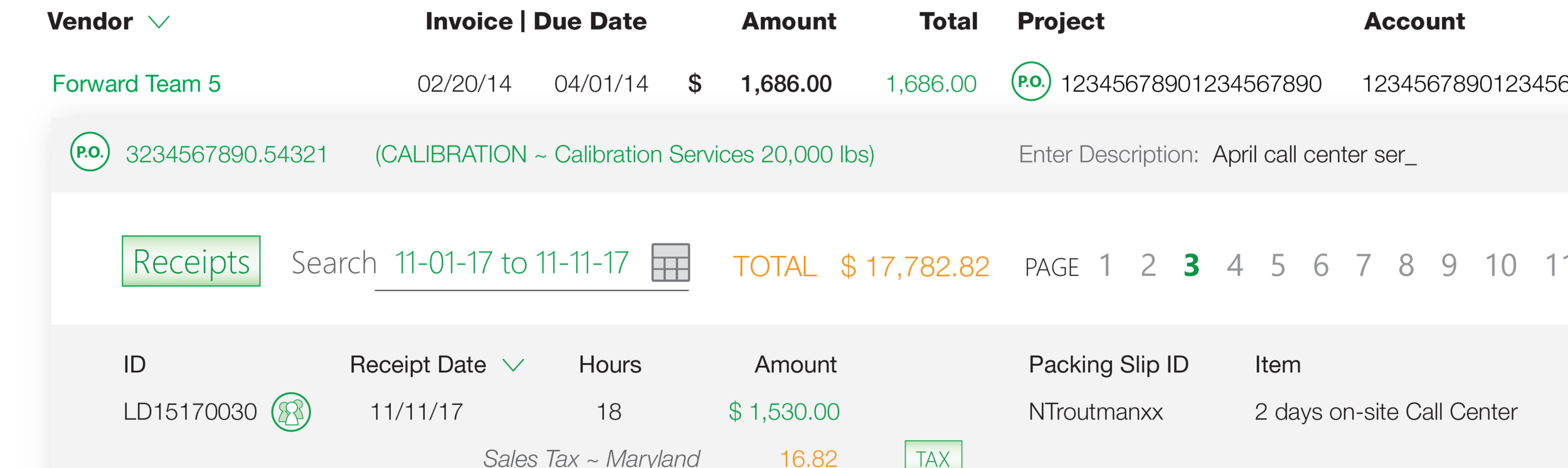 Automatically create vendor invoices from subcontractor timesheets.  With optional Subcontractor Timesheets, AutoMate matches labor hours with Purchase Orders, and creates invoice vouchers directly in Costpoint.