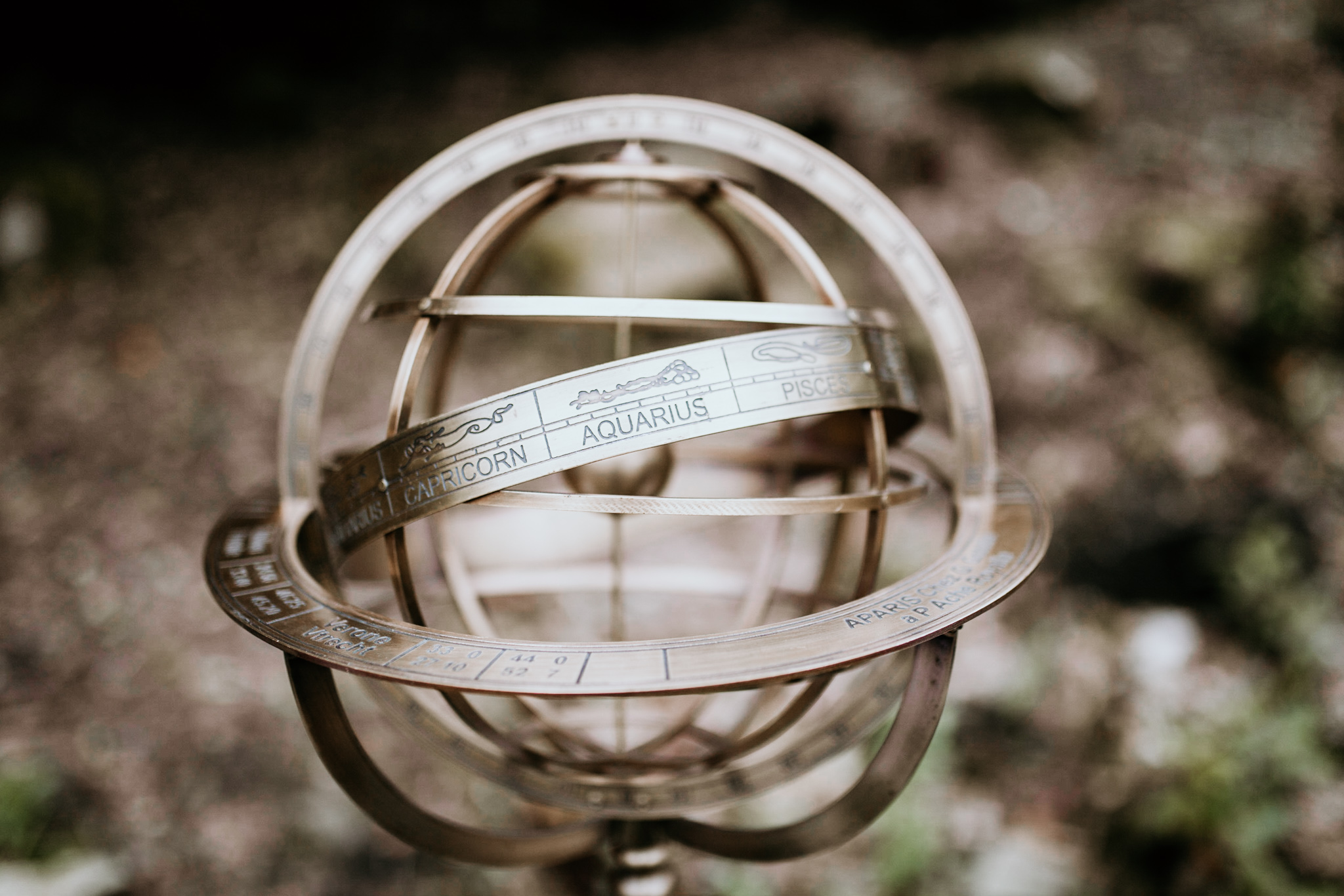 Antique Zodiac Globe  Solid Brass with a mahogany base, this beauty even spins around to show you all of the star signs!  Use as a centrepiece, on your cake table, or even at the end of your aisle!  Price to hire: £10