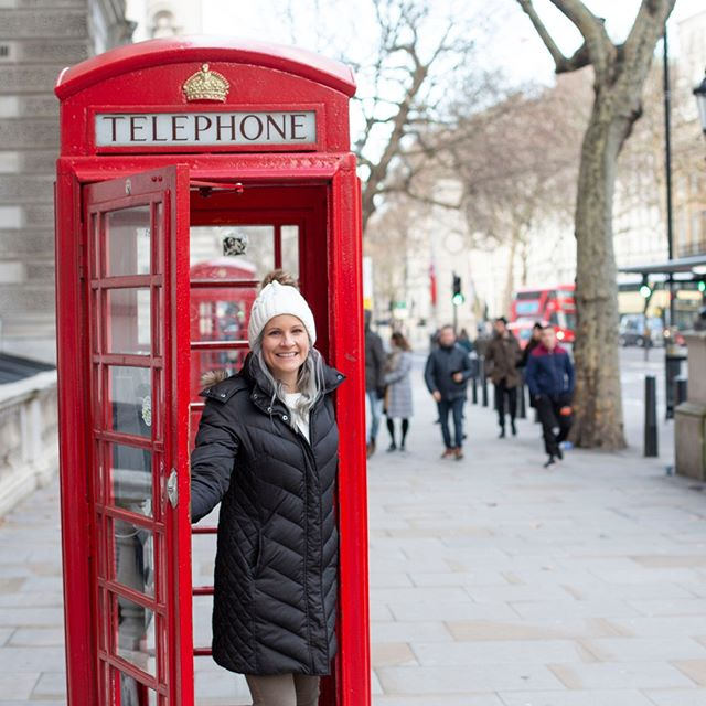 You can't visit London without taking a touristy photo in a red telephone booth! Fun fact they are all still working and some even have WiFi. . . . #london #redphonebooth #travelmore #explore #passport #visitlondon #instalondon #travelstories #travelblogger