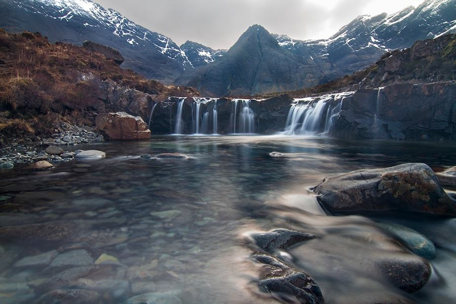 Glenbrittle and Fairy Pools - Great walks into the Cuillins and Black Beach.