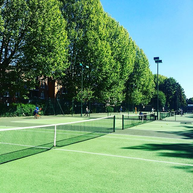 Fun morning out on the court working with a talented young tennis player on performance routines and staying calm and focused under pressure #tennis #sportpsychology #mindset #performanceroutines