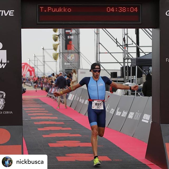 Proud of my client @nickbusca for smashing his half Ironman with a PB. Nick you have worked so hard - congratulations on your achievement! . Posted @withrepost • @nickbusca No, I'm not Puukko. But I would have not minded his faster time 😅  Truth is though, I would not change anything to my @ironmanitaly 70.3. That was my race, my very own creature. I would not trade it for nothing else. Not even Puukko's.😜 It was simply perfect, my best execution ever. I guess you can tell that from the finish line joy. What you can't tell maybe, is that I performed at my very best.  I dug incredibly deep to stay where I was supposed to stay and hurt myself a lot as a result. Bravo!  But I f#### loved it.👍👍👍 I loved everything of my creature. The pain on my feet after km 15 (well, didn't really love it, but you know what I mean), the crowds, the scenery, the atmosphere and most importantly, the flow.  When you have a plan and stick to it (and luckily everything goes smoothly too) you can finally get into the zone, the flow, and fly. 🌊🌊🌊 I was in trance. Yes, I was there, focused on what I had to do in the moment, but at the same time I wasn't there either. I was becoming the race. The race became me.  And I b#### loved it. That is why I train every day. To build up the possibility of delivering my best performance ever, get at the start line strong, healthy and rested, and try to improve at each attempt. I try to learn from my mistakes and I try not to repeat them.  I've worked incredibly hard for this one and I am so, so proud of the outcome. It was my own execution and no one else's (sorry Puukko) - and I enjoyed it fully.  As alwasy, results are not random and are not the fruits of a single person, but those of a team. And my team is pretty special and I love it.  @jo_spindler - Master of Pain Inflicted 👍 @inscyd - Master of Numbers 🔢 @swimfortri - Master of Swim Improvement 🏊 @canyon UK - Master of Problem Solving 🤞 @ericalombardi.dietician - Master of Food 🍲 @hannah_winter_sport_psychology - Master of Mind🎎 @mandyruggeri - Master of Masters🌹  #hardworkworks #Spindlersquad⬆️ #TrainForReal #RaceStronger #TrainWithInscyd . . . #triathlon #trilife #swimbikerun