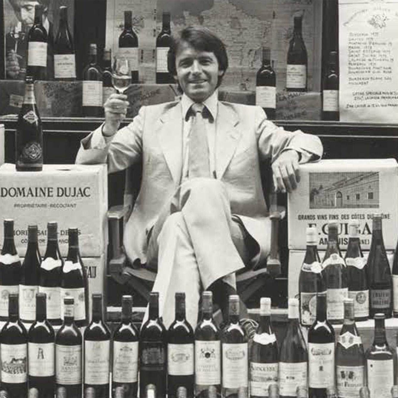 Steven in 1973 outside his wine merchants in Paris's VIII arrondissement