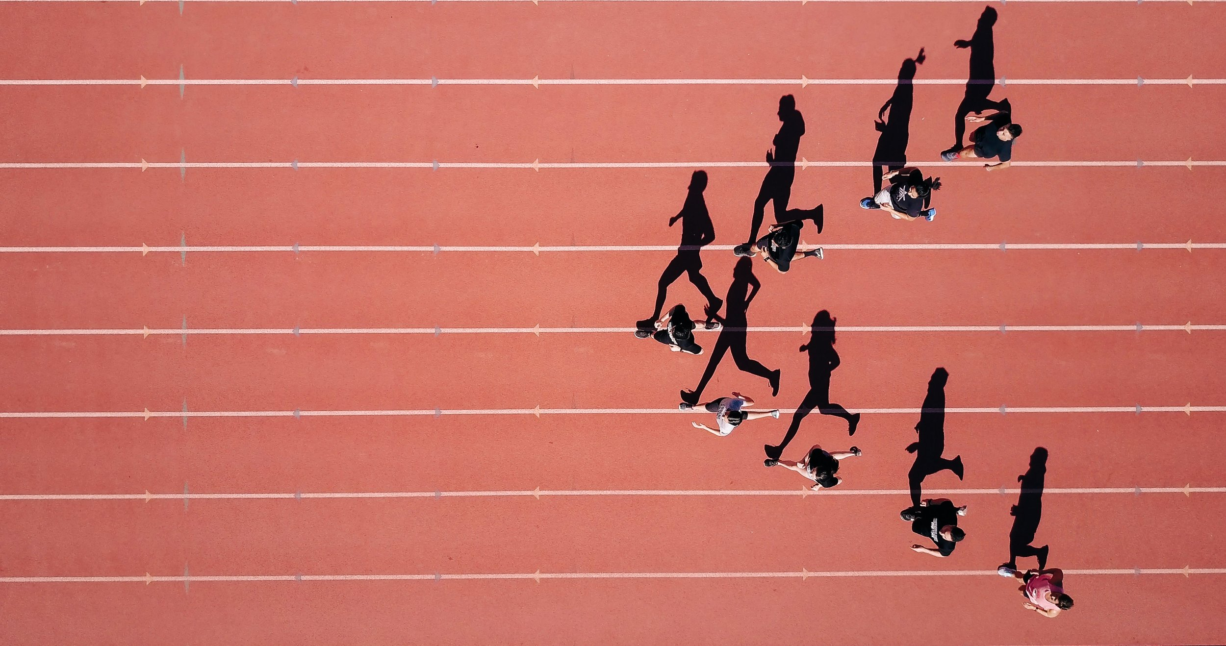 Sprinters on track