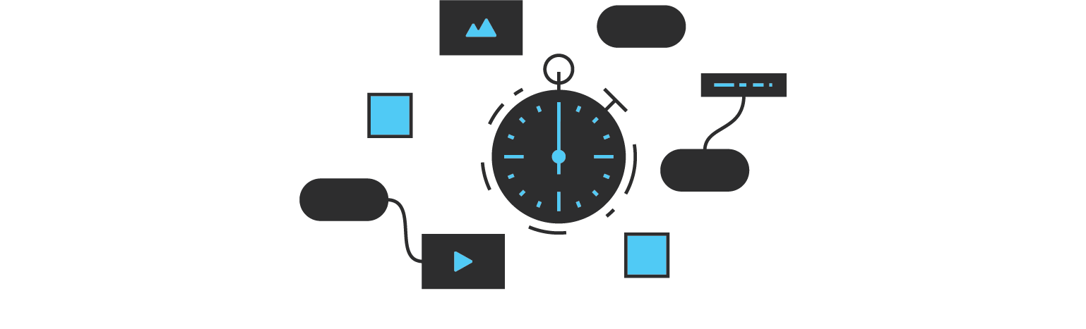 stop watch and design sprints diagram