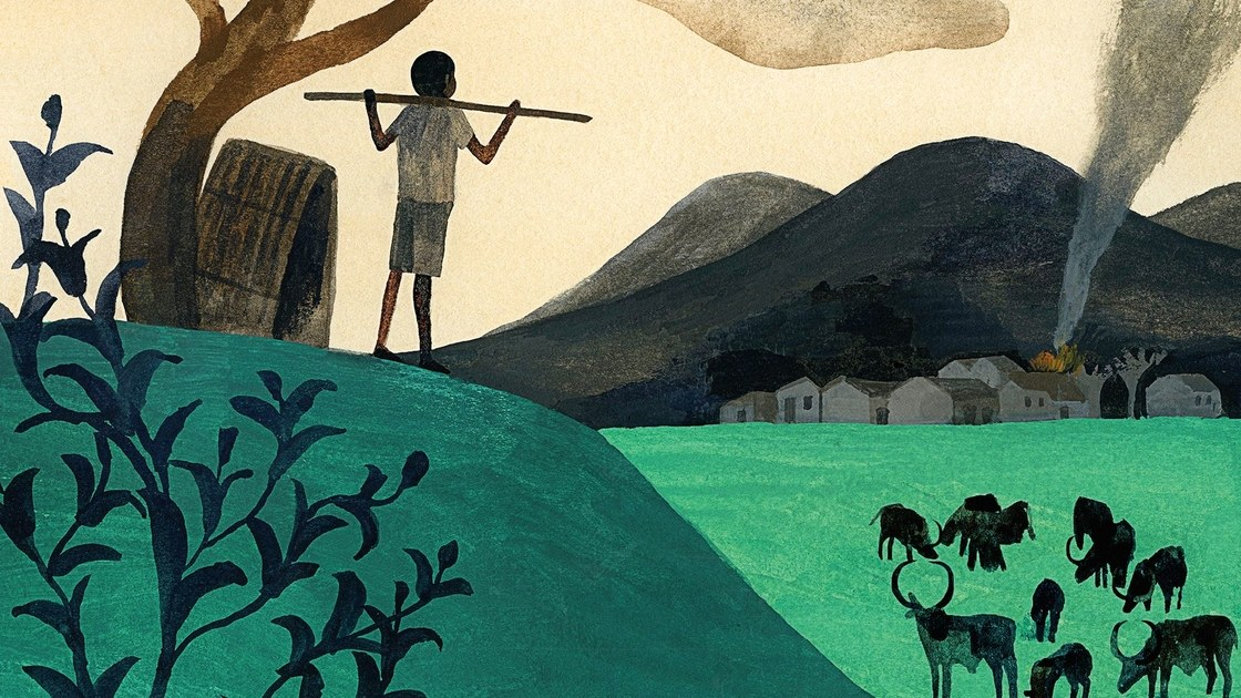 "Image by Carson Ellis for  The New       Yorker,  from Mukasonga's  ""Cattle Praise Song"""