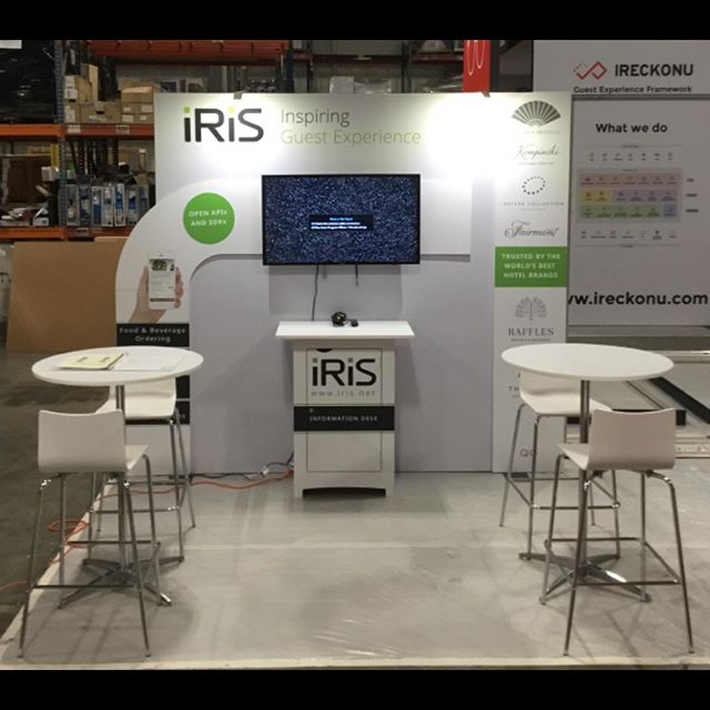 #hitecminneapolis is just around the corner, here is a sneak peak of our booth. If you are going to be there be sure to stop by our booth #3530 to meet our team and learn more about how we can help you to give your hotel guests the best possible experience! #eyeoniris #hitec2019 #minneapolis #hospitality #tradeshow #booth