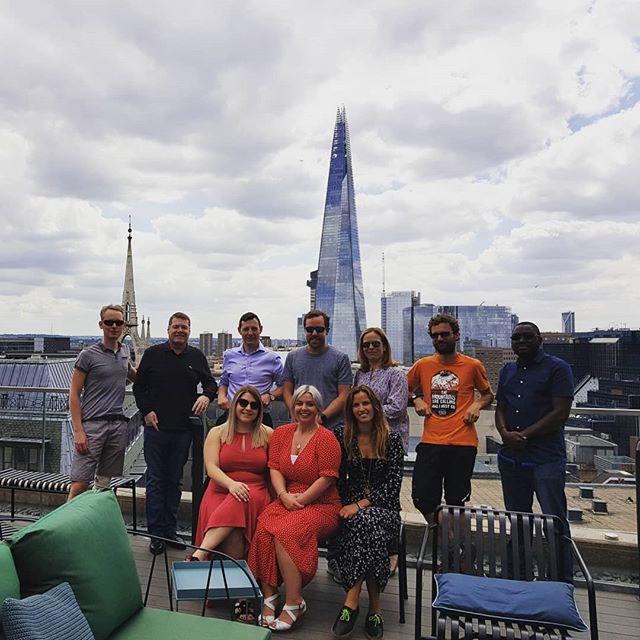 Operations team enjoying the roof deck at #wework #eyeoniris