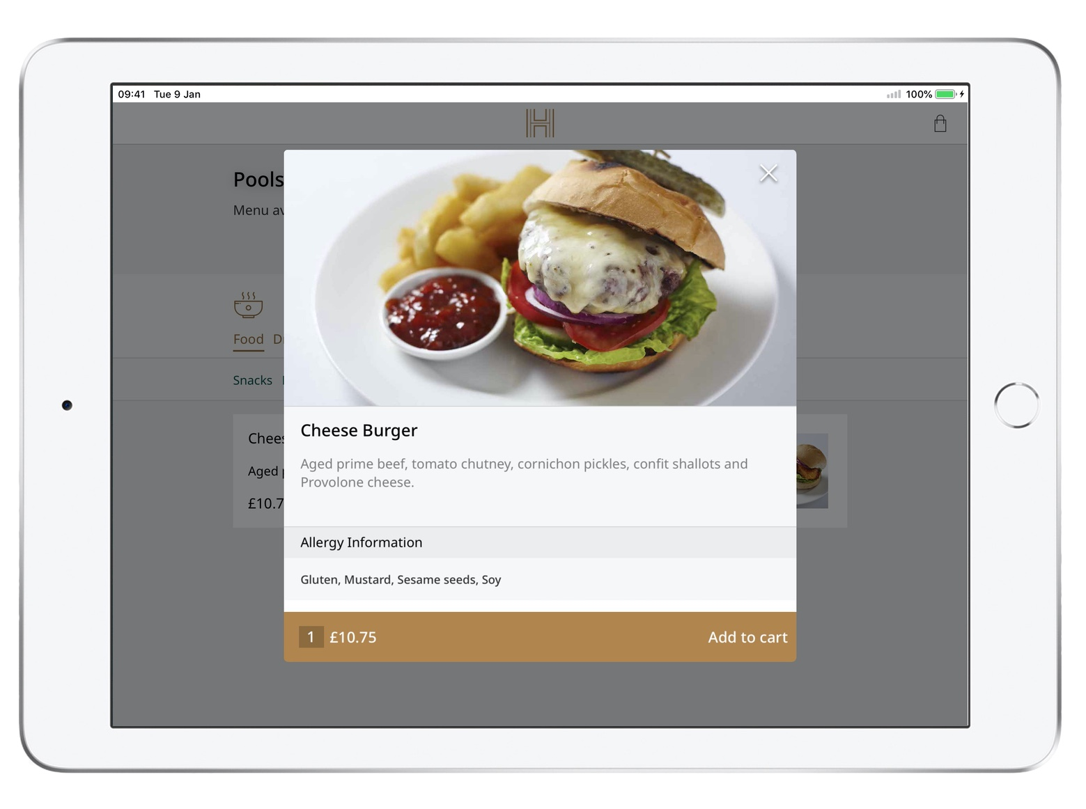 Outlet - All of your restaurant content will be available to your guests. Tell guests about dietary information, recommendations or the chef's note with our Item Attributes feature. Let them customise their order with Item Modifiers feature.