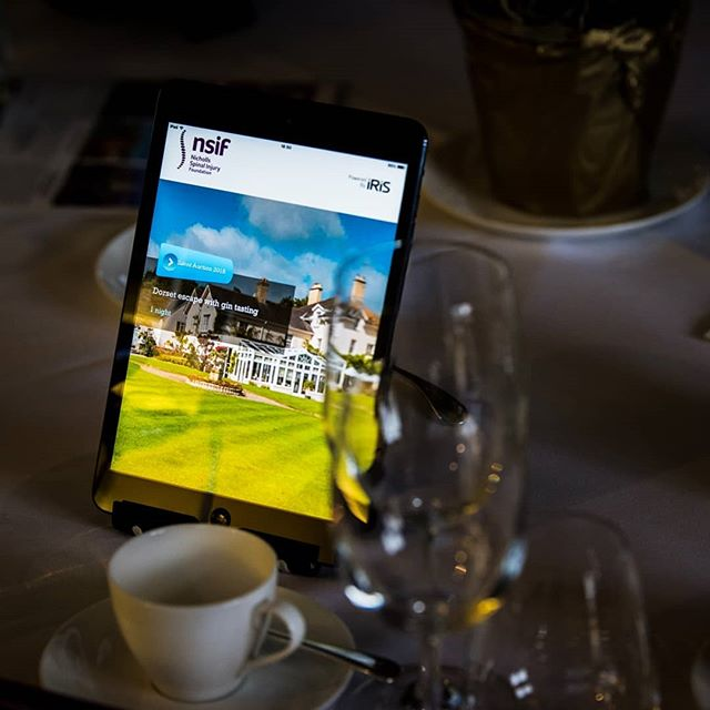 iRiS is one of the proud @supportnsif Golf day sponsors - supporting spinal cord injury R&D into a cure for paralysis. The bespoke auction app we've build helped raise £150k at their annual event last month. Way to go! #eyeoniris