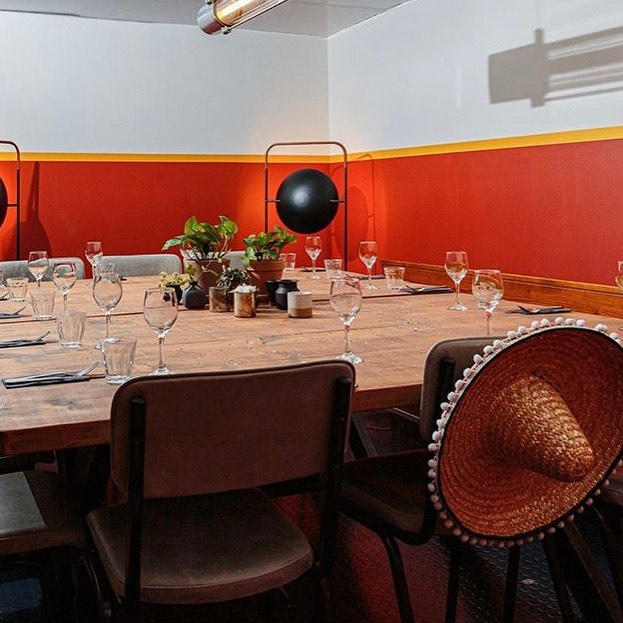 Looking for a private dining space for up to 14 people? Look no further... (sombrero optional)