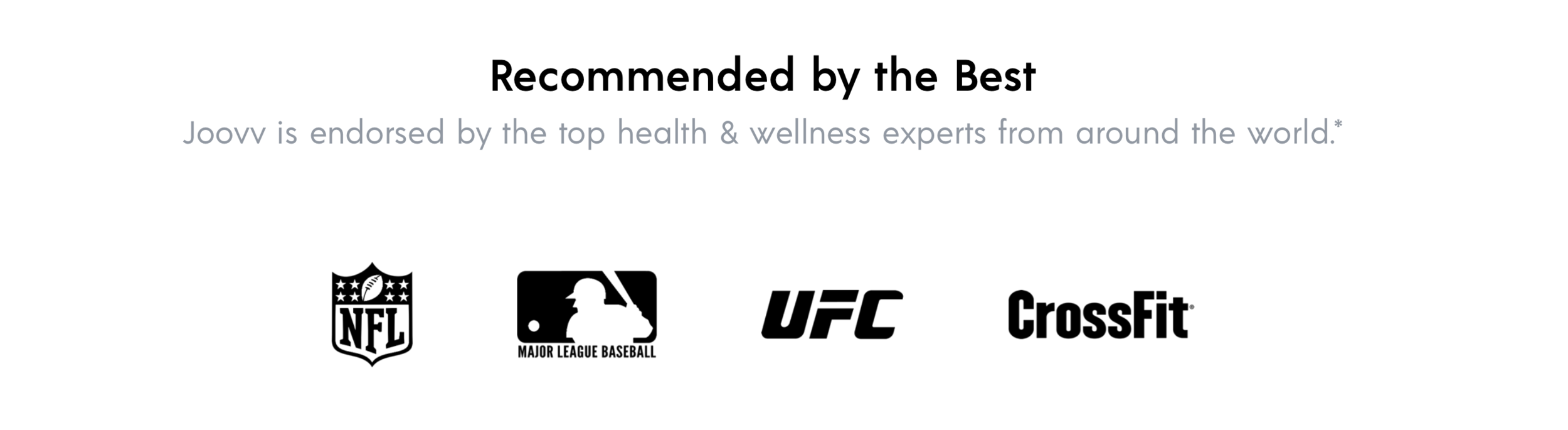 Joovv Red Light Therapy is recommended by NFL, MLB, UFC, Crossfit & more…