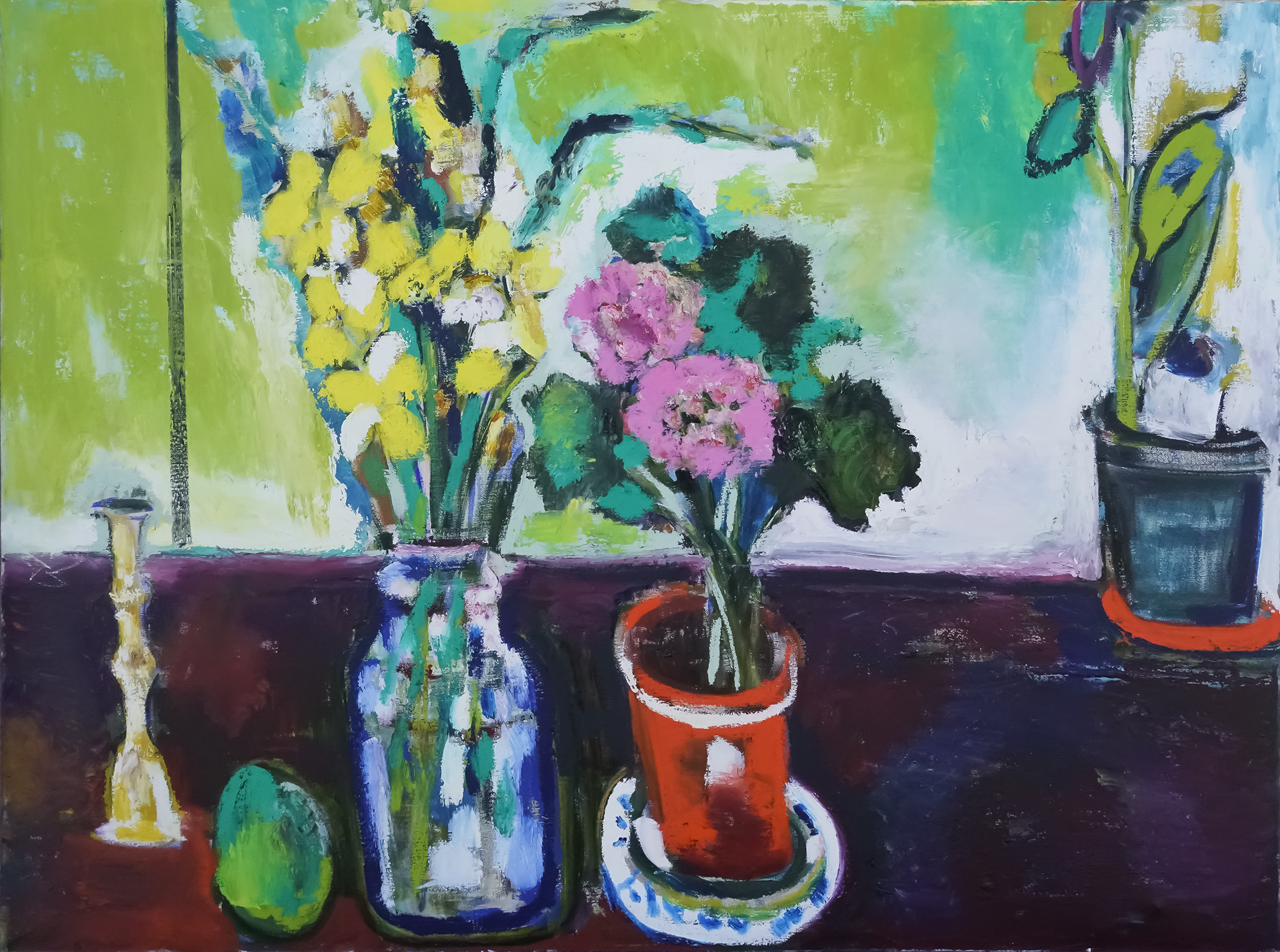 Daffodils and Lime 30x40 Oil