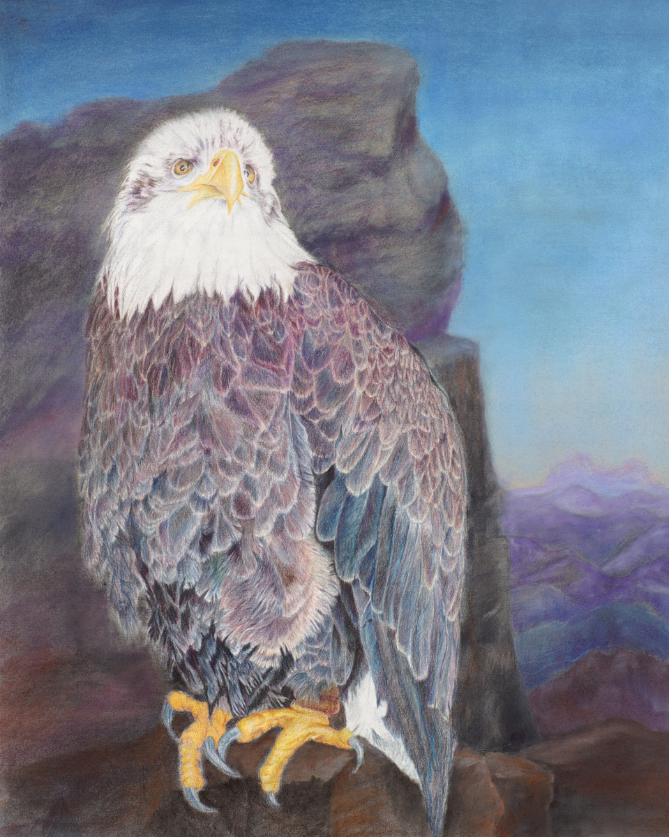 """""""HER MAJESTY"""",  Color pencil on Arches Paper,  20x25 inches,  IN PRIVATE COLLECTION"""
