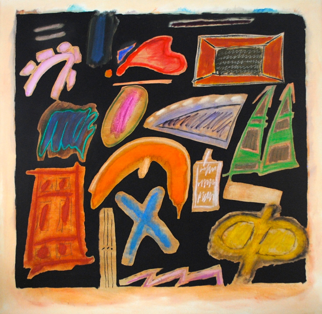 Synthesis #40 , 1982, oil and oilstick on canvas, signed and dated lower right, 45 1/2 x 26 1/2 in.