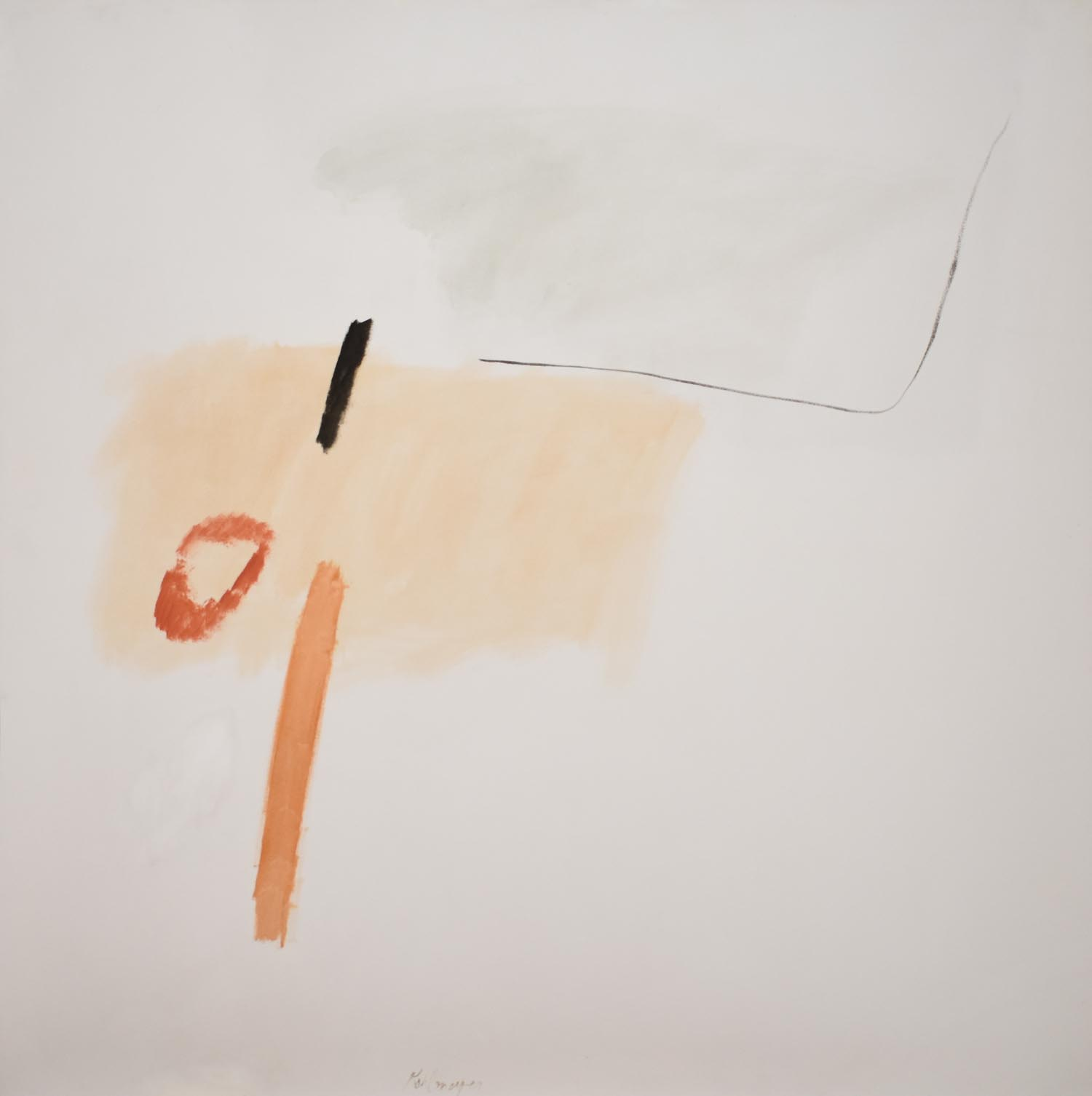 Tangential No. 1 , ca. 1965 Oil on canvas, signed lower middle, 56 3/4 × 55 5/8 in
