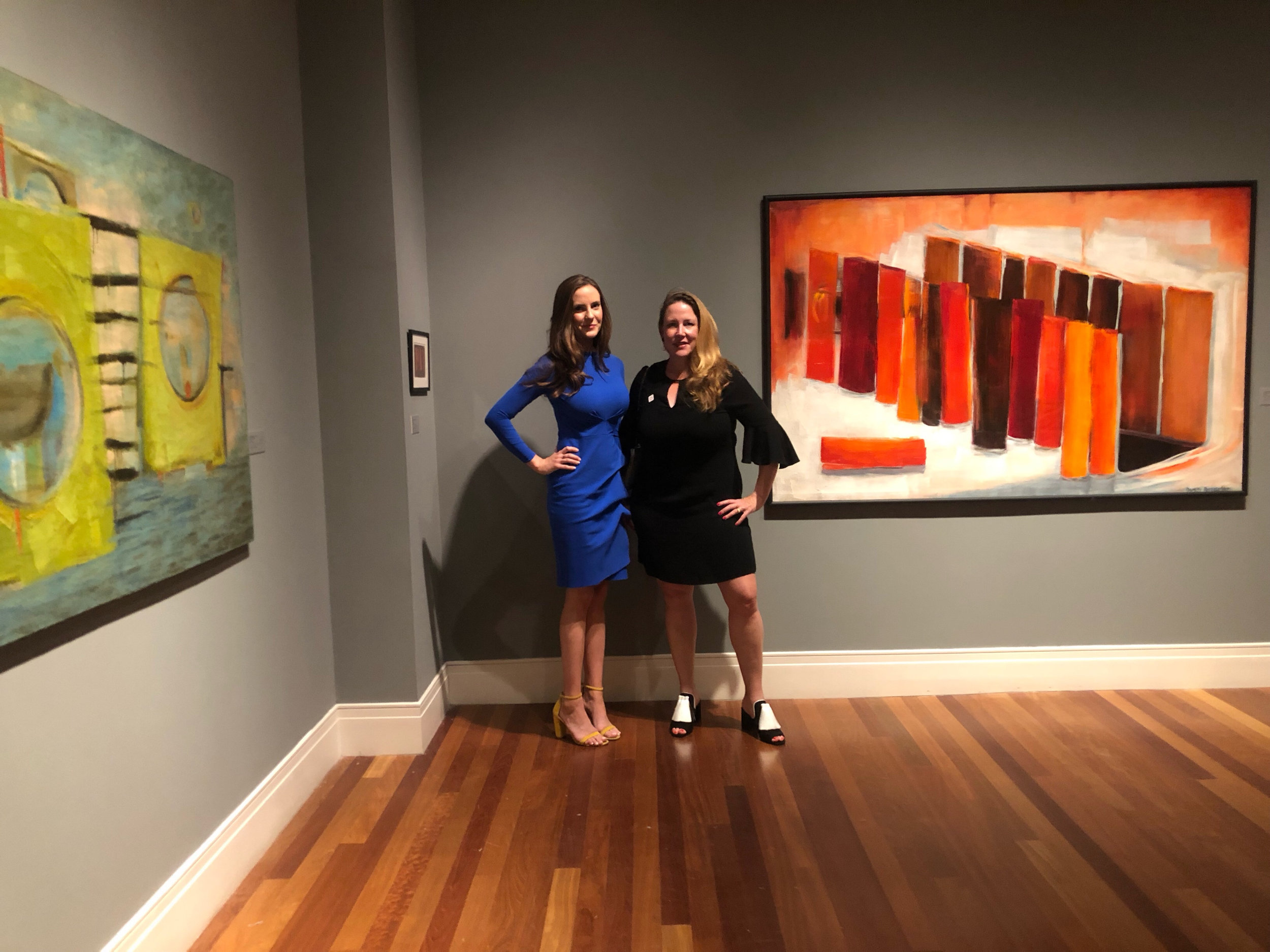 Cameron and Amanda at the opening of  Piercing the Inner Wall: The Work of Dusti Bongé  at the Ogden Museum of Southern Art in New Orleans, Louisiana.