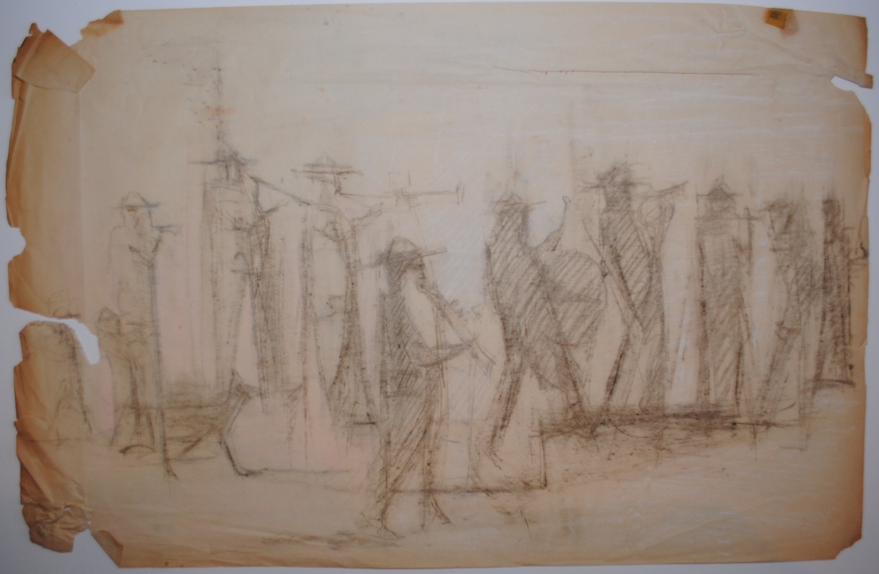 Study for The Village Band (Mexico), 1958