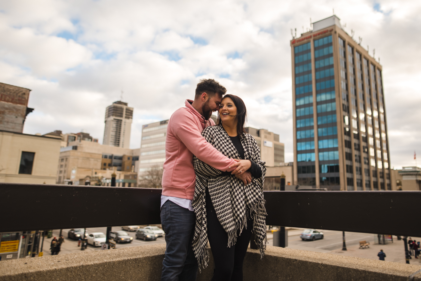 Alex & Michelle's Downtown Hamilton Gore Park James Street North King Street East Engagement Session Aidan Hennebry Urban Wedding Photographer Hush Hush Photography & Film-17.jpg