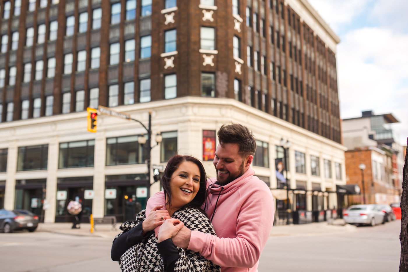 Alex & Michelle's Downtown Hamilton Gore Park James Street North King Street East Engagement Session Aidan Hennebry Urban Wedding Photographer Hush Hush Photography & Film-22.jpg