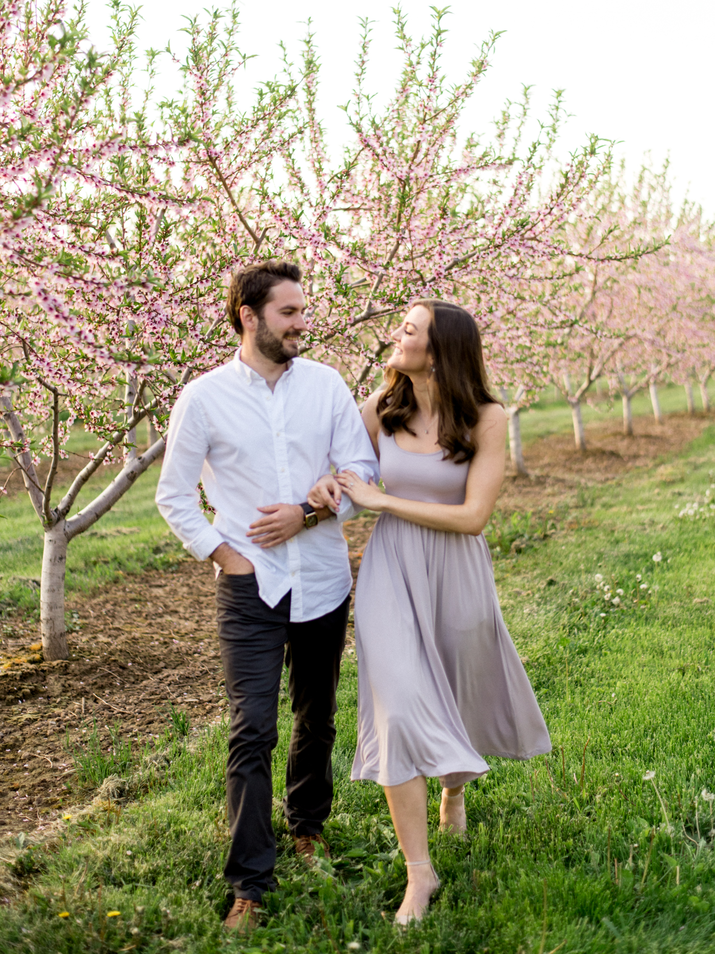 Chris & Heather's Engagement Session in Vineland Ontario Spring Blossoms Trees by Hush Hush Photography & Film Aidan Hennebry - 3.jpg