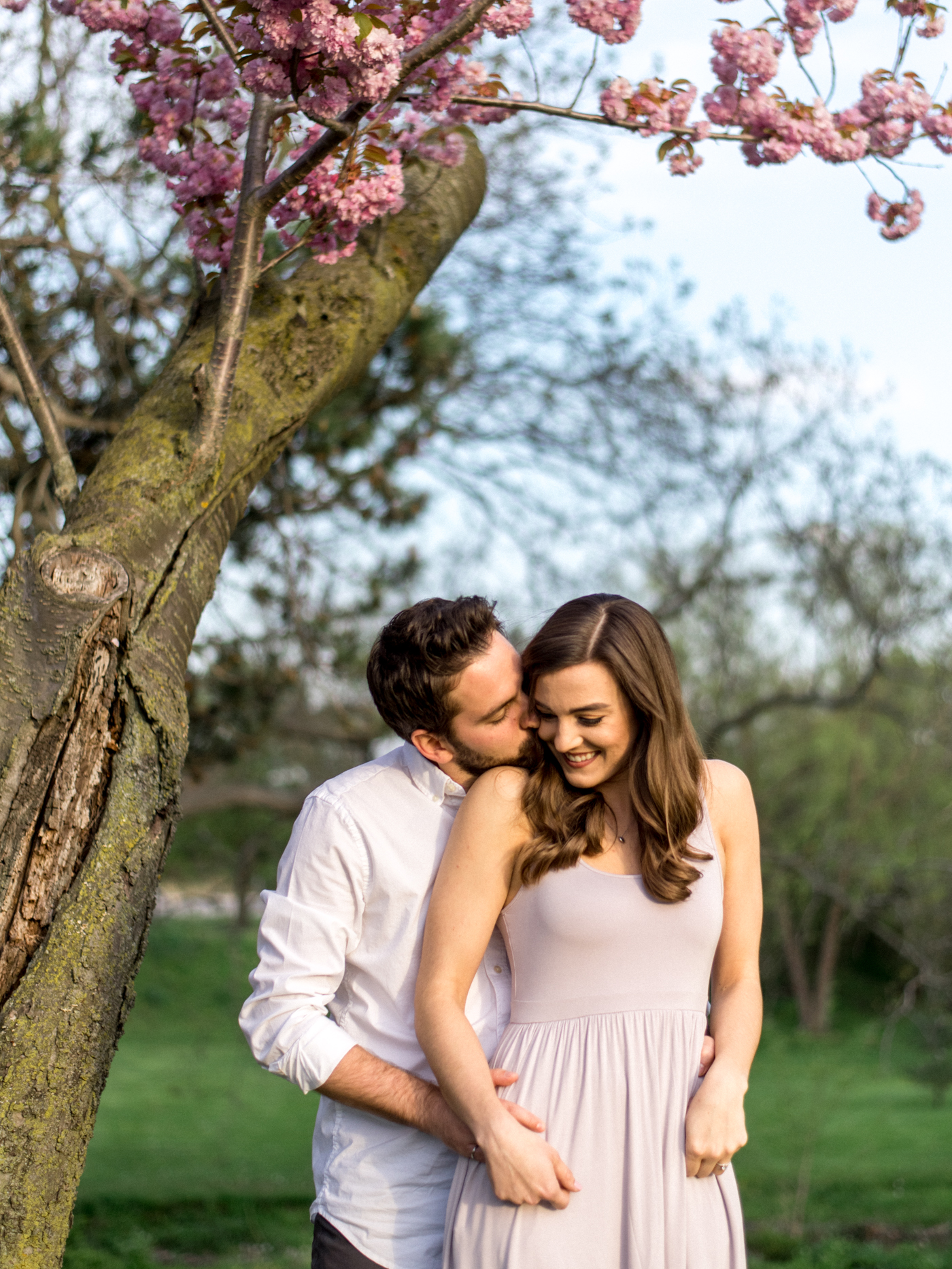 Chris & Heather's Engagement Session in Vineland Ontario Spring Blossoms Trees by Hush Hush Photography & Film Aidan Hennebry - 18.jpg