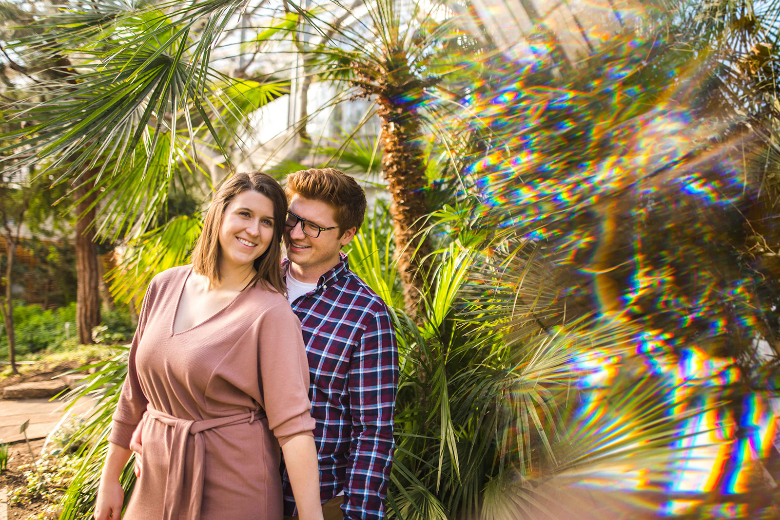 Emerson & Elicia's Royal Botanical Gardens Mediterranean Room Engagement Session Indoors Summer Greenhouse Warm Aidan Hennebry Hush Hush Photography Film Wedding.jpg
