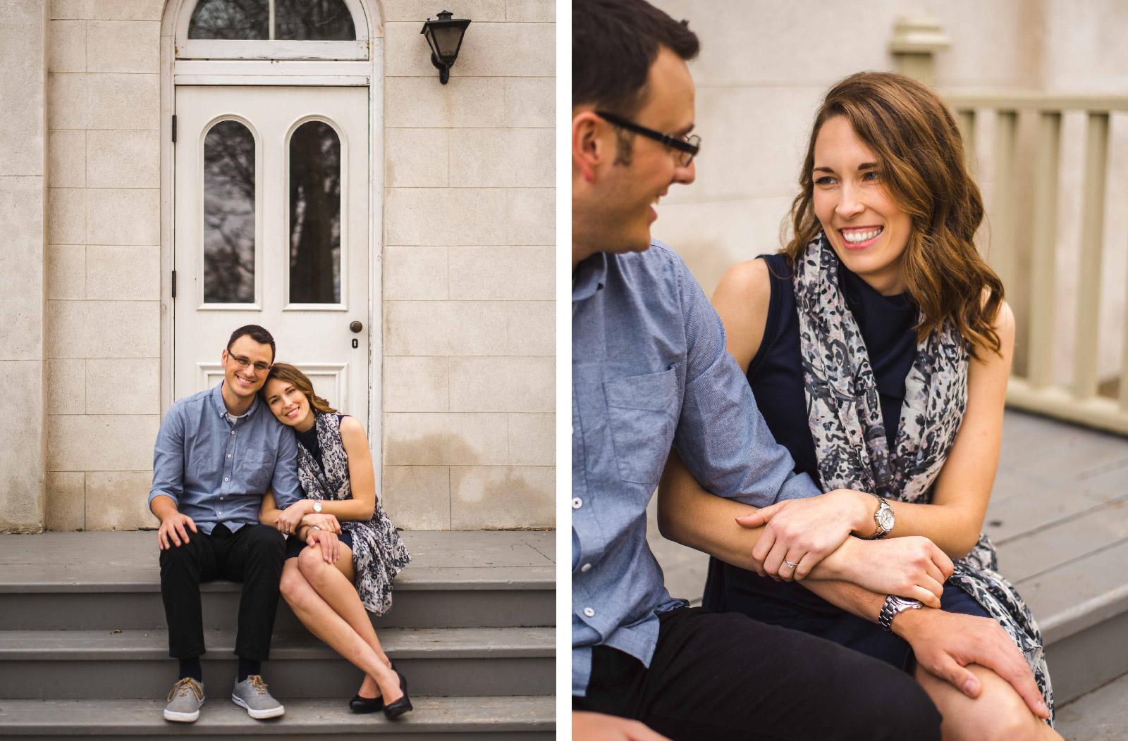 Dana and Marcus Cute Stairs Hush Hush Photography & Film Aidan Hennebry Hamilton Wedding Photographer Videographer-01.jpg