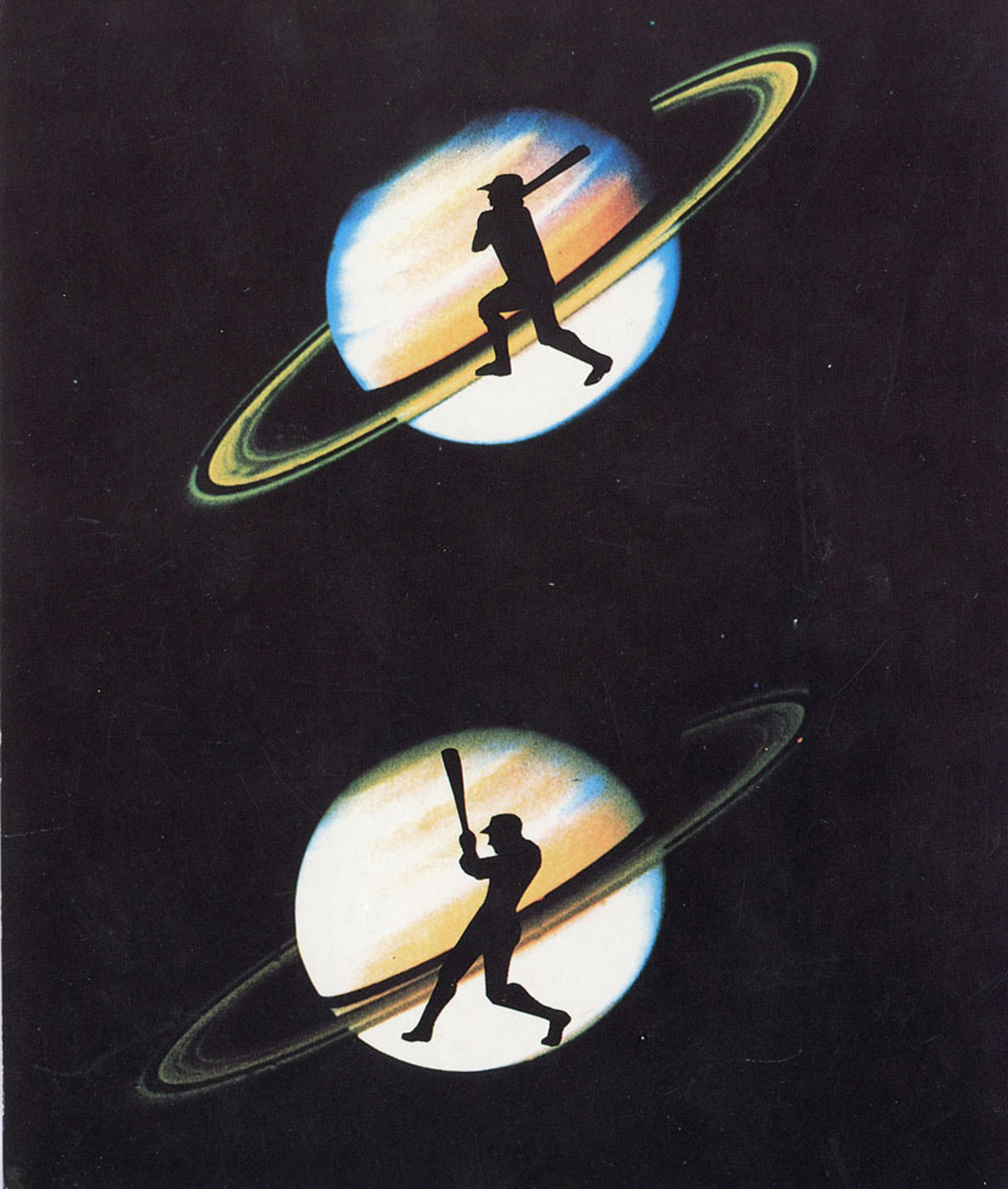 Lieberman & Saul Gallery, Eve Sonneman, Polaroid Sonnegrams, Announcement Card, 1989.