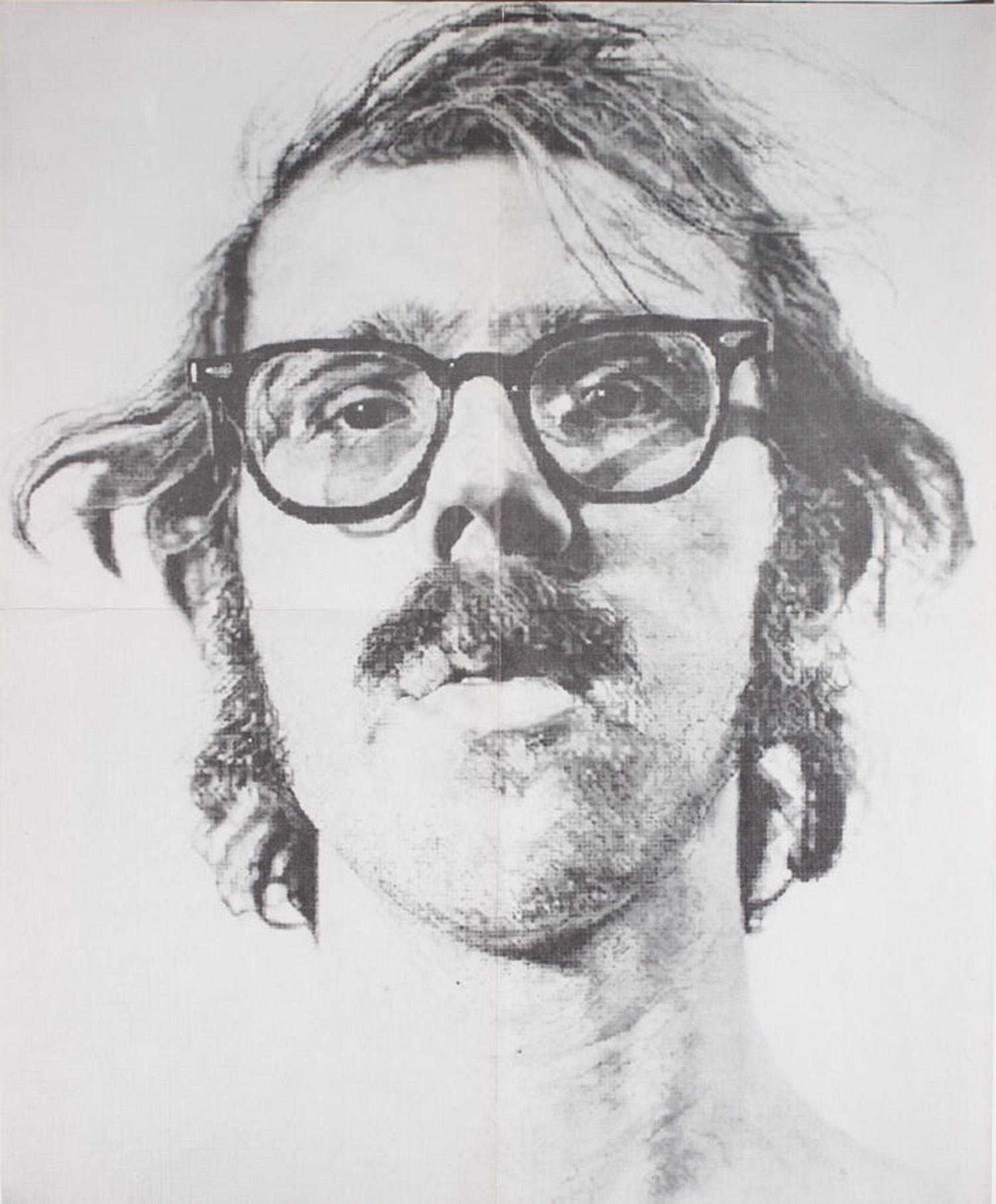 Bykert Gallery, Chuck Close, Poster, 1973