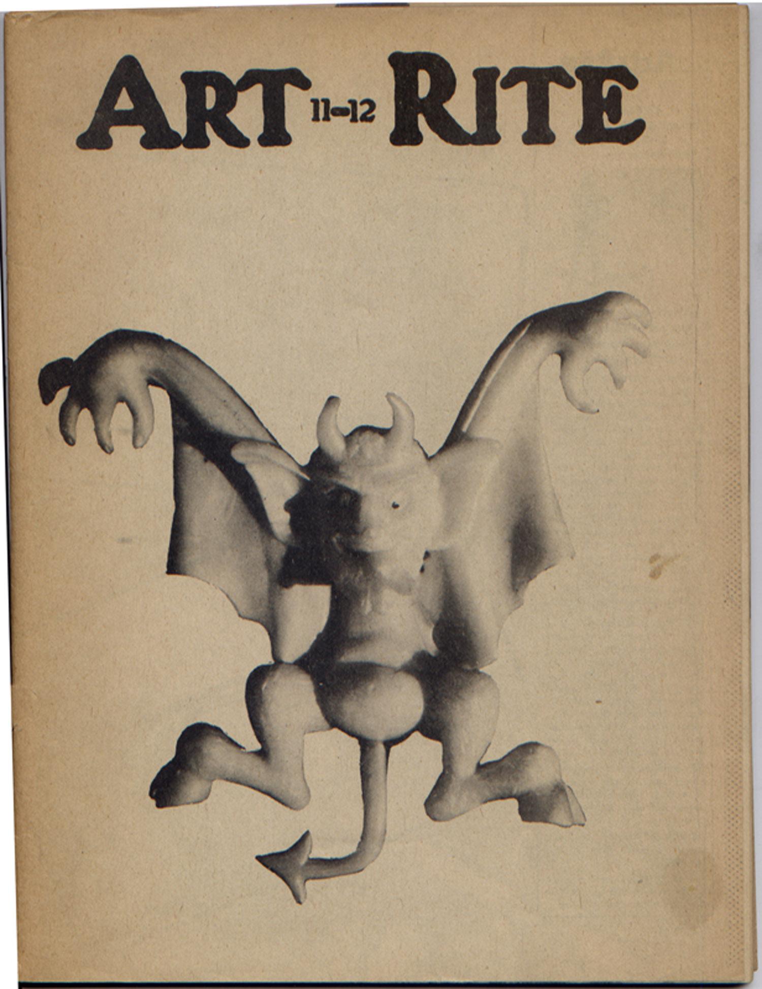 Art-Rite Magazine, Issue No. 11/12, Winter/Spring 1975-76